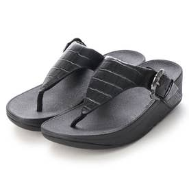 LOTTIE CROCO TOE-THONGS (All Black)