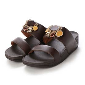 ROSA CLUSTER SLIDES (Chocolate Brown)