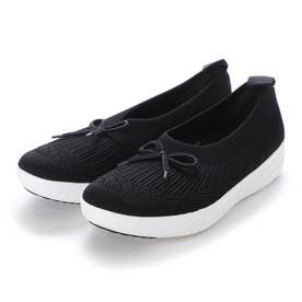 UBERKNIT SLIP-ON BALLERINA WITH BOW (Black)