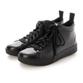 RALLY LEATHER HIGH-TOP SNEAKERS (All Black)