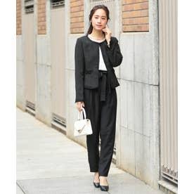 結婚式・二次会・入学式・卒業式 セレモニーシーン対応 フォーマルパンツスーツ (ブラック)118502
