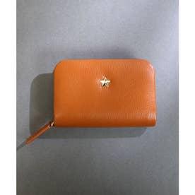 【本革】【2way】【3種展開】スタッズスクエア小さい財布 (キャメル)
