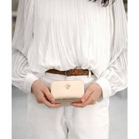 【本革】【2way】【3種展開】スタッズスクエア小さい財布 (ゴールド)