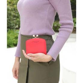 【大容量】かまぼこ型パールがま口財布 (レッド)
