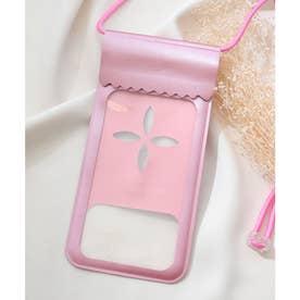 【防水】海やお風呂で使えるスマホ用防水ケース (ピンク)