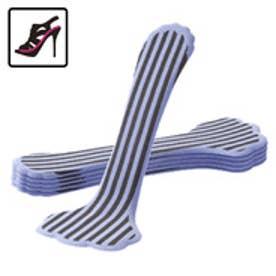 サンダルのフルインソールスリム形状 前滑り防止・衝撃吸収・クッション長持ち・足裏の痛みや疲れに・パンプスやフラットシューズに|フットペタルス/キラークッション厚さ2mm(ストライプラベンダー)