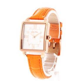 RETRO TIME レザーベルトウォッチ/腕時計 (オレンジ)