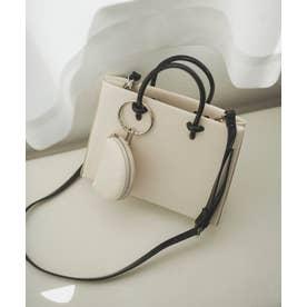 コインポーチ付きバッグ ホワイト