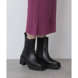 サイドゴアヒールブーツ ブラック