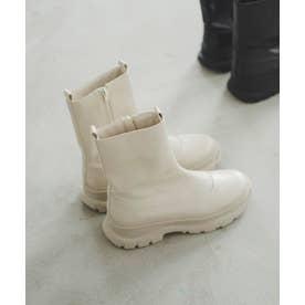 スニーカーソールブーツ ホワイト