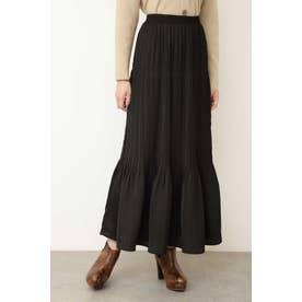 ◆ナロープリーツマキシスカート ブラック
