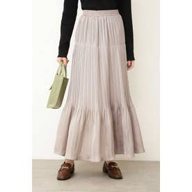 ◆ナロープリーツマキシスカート グレー