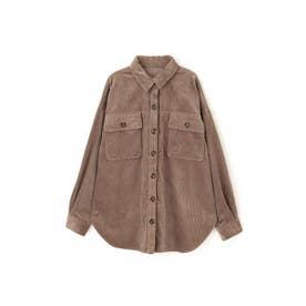 ◆コーディロイビッグシャツ グレージュ