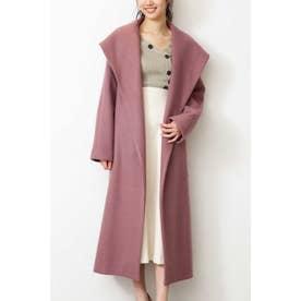 《Sシリーズ対応商品》◆ジャージメルトンショールカラーコート ピンク