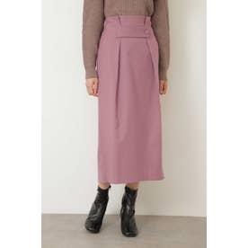 ◆ウエストタブタックタイトスカート ピンク