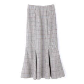 ◆カラーチェックマーメイドスカート ブラックMIXチェック1