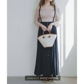 《Sシリーズ対応商品》◇サスペンダー付パネル切替ナローデニムスカート ワンウォッシュ1