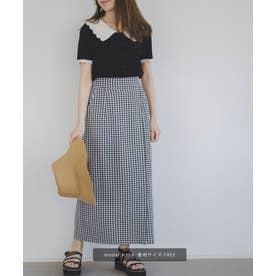 ギンガムチェックタイトスカート ブラックギンガム1