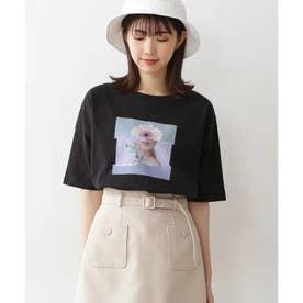 アートプリントビッグTシャツ ブラック
