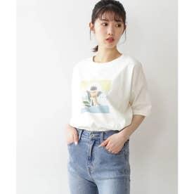 アートプリントビッグTシャツ ホワイト