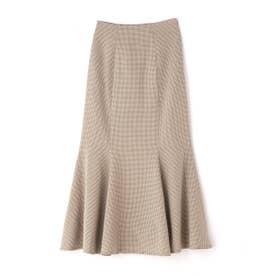 カラーチェックマーメイドスカートⅡ ベージュチェック1