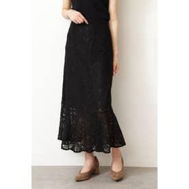 ◇《Sシリーズ対応商品》ハイウエストレースマーメードスカート ブラック