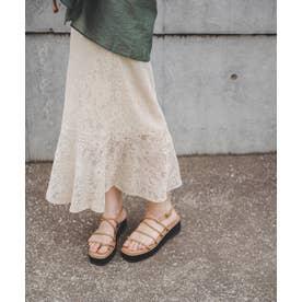 ◇《Sシリーズ対応商品》ハイウエストレースマーメードスカート アイボリー