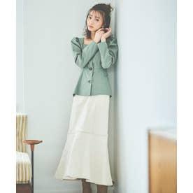 ◇《Sシリーズ対応商品》パネル切替マーメイドデニムスカート カス残し1