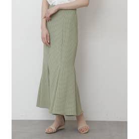 ◇カラーチェックマーメイドスカートⅡ ライトグリーンチェック1