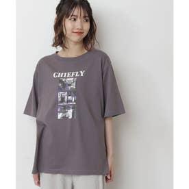 モノトーンフォトグラフィティプリントTシャツ スミクロ
