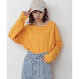 ムジロングスリーブTシャツ オレンジ