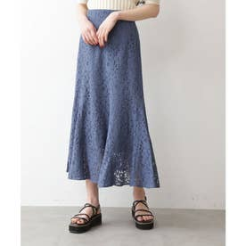 《Sシリーズ対応商品》三角マチレースマーメイドスカート ブルー