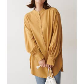 《Sシリーズ対応商品》T/Rスタンドネックチュニックシャツ マスタード