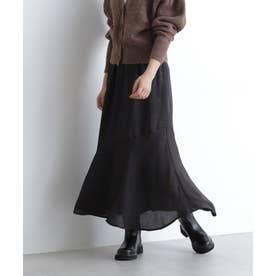ジャガードマーメイドロングスカート ブラック