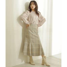 《Sシリーズ対応商品》ツィードチェックナロースカート ホワイトチェック1