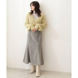 《Sシリーズ対応商品》ツィードチェックナロースカート ベージュベース1
