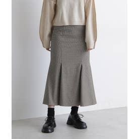 チェックマーメイドスカート グリーンチェック1