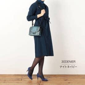【福助】 極みニュアンスカラー 30デニール タイツ シアータイツ (ナイトネイビー)