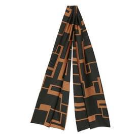 オリジナル柄スカーフ (BLK)