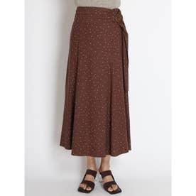 リネンナロースカート (ブラウン)
