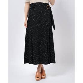 リネンナロースカート (ブラック)