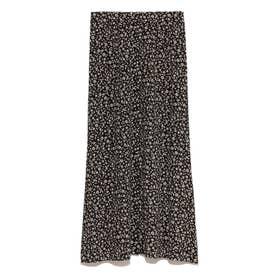 フラワープリントナロースカート(ブラック)