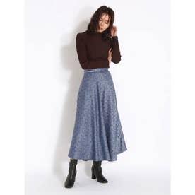 ブロケードジャガードスカート (BLU)
