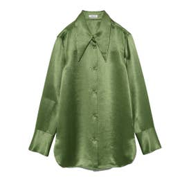 ビッグカラーサテンシャツ (GRN)