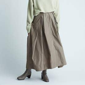 リボンタフタスカート (カーキ)