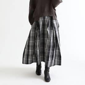 リボンタフタスカート (ブラック)