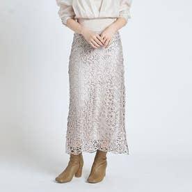 チンツレースタイトスカート (アイボリー)