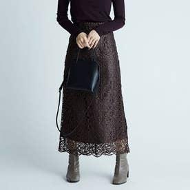 チンツレースタイトスカート (ブラウン)