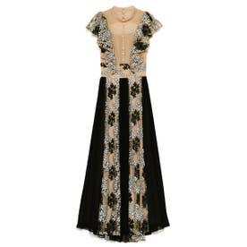 エンブロイダリープリーツドレス (BEG)