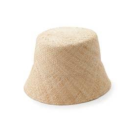 ラフィア帽体バケット (BEG)